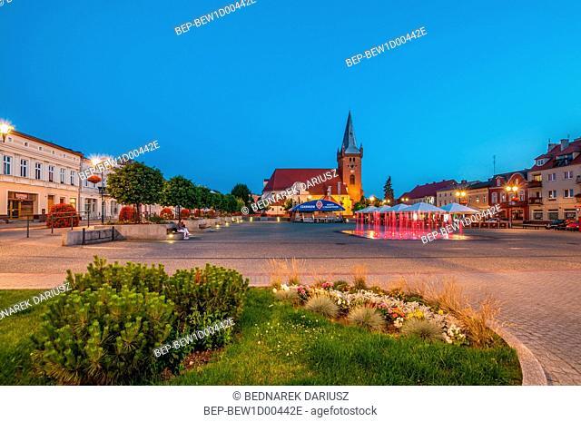 Market square in Czarnkow, Greater Poland Voivodeship, Poland