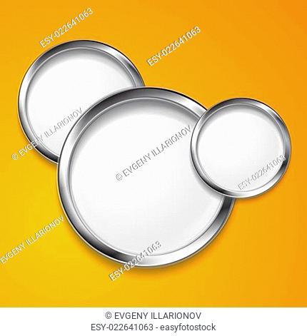 Elegant vector round shapes