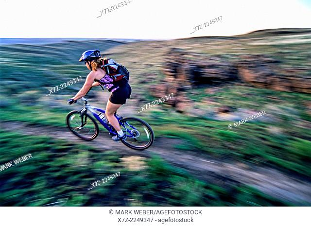 Mountain biking the Indian Springs Trails in the Goose Creek Mountains in southern Idaho
