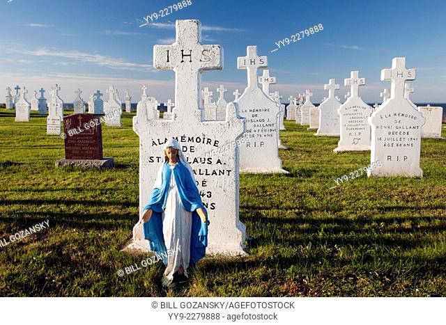 Cemetery at Eglise Notre Dame du Mont Carmel - Mont Carmel, Prince Edward Island, Canada