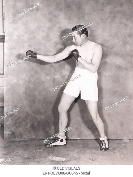 Boxer's stance (OLVI008-OU046-F)