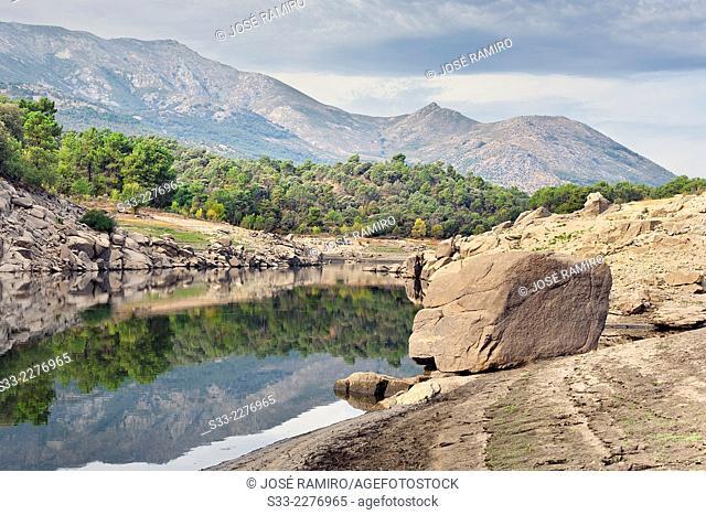 Alberche river in Navaluenga. Avila. Castilla Leon. Spain. Europe