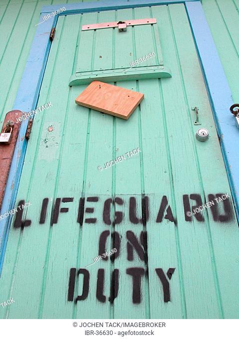 USA, Florida, Miami Beach: Lifeguard's stand