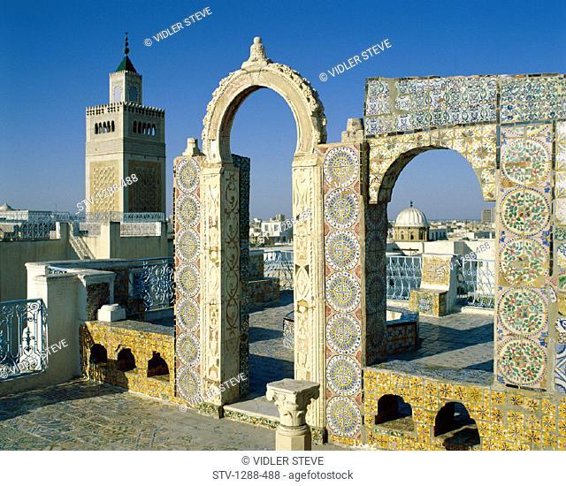 Architecture, Holiday, Landmark, Medina, Roofs, Skyline, Tourism, Travel, Tunis, Tunisia, Africa, Vacation