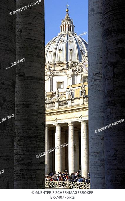 Colonnade Basilica of Saint Peter Vatican Rome Italy