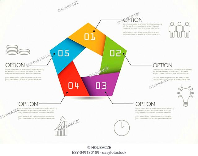 five step colorful infographic template