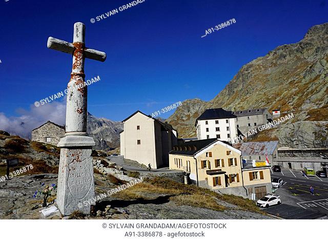 Swizerland, Valais, Col du Grand Saint Bernard pass, Hospice & Saint Bernard dogs
