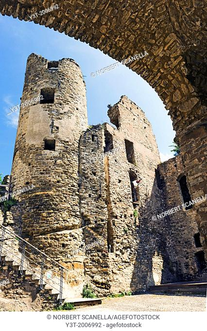 Europe, Italy, Liguria, Dolceacqua. The castle of the Doria, dating partly from the twelfth century