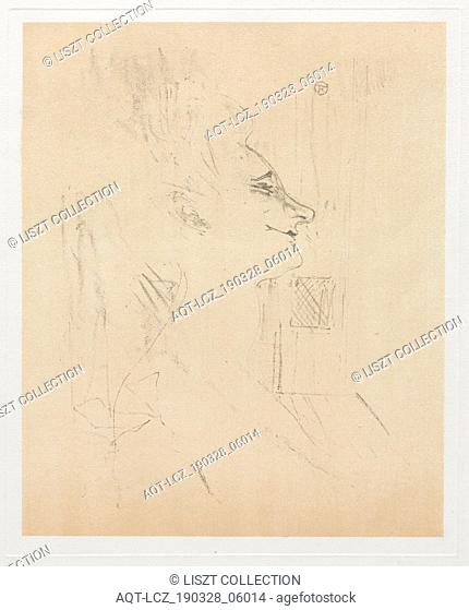 Yvette Guilbert Intoxicated, 1898. Henri de Toulouse-Lautrec (French, 1864-1901). Lithograph