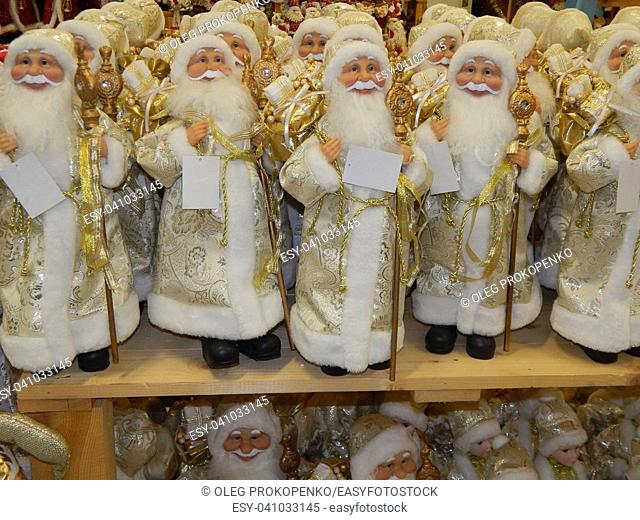 Christmas gifts santa claus and christmas tree decorations