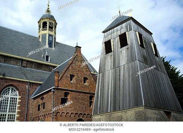 Old bell tower, Sneek, Friesland province (Fryslan), Netherlands