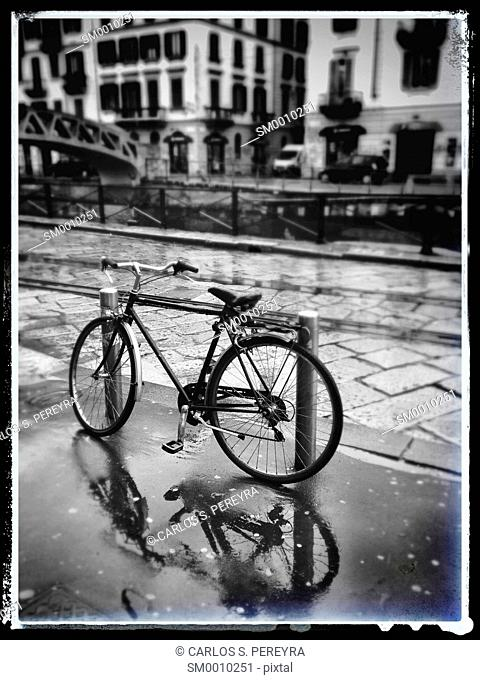 Bicycle in Milan, Italy