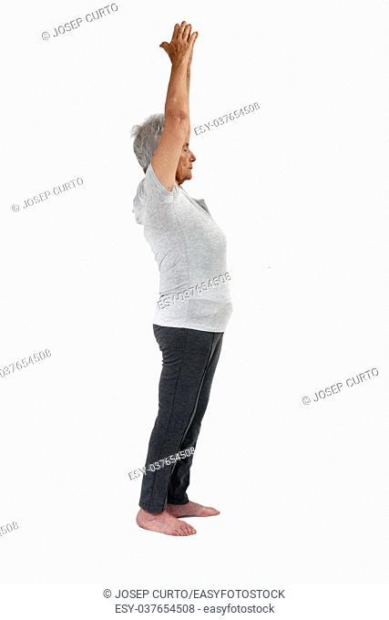 Older woman exercising