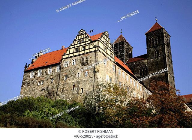 Castle Quedlinburg. - Quedlinburg, Harz, Sachsen-Anhalt, Germany, 09/10/2007