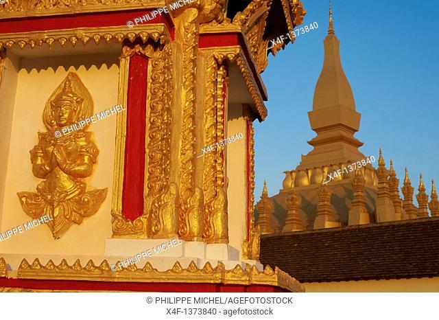 Laos, Vientiane city, Pha That Luang stupa