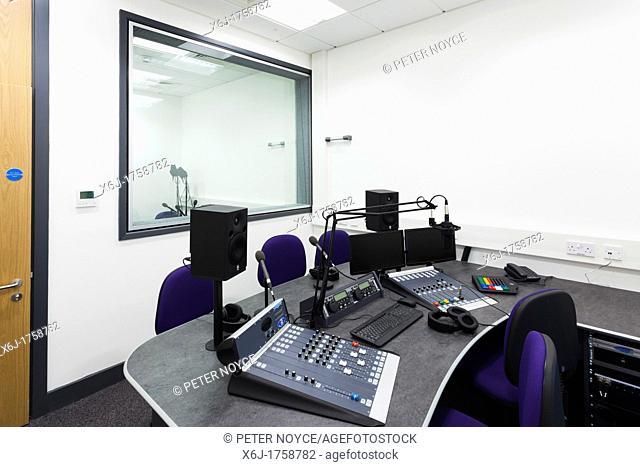 Abingdon & Witney College radio studio