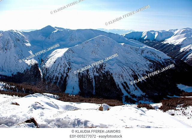Tatry zim, Zimowy pejza w górach