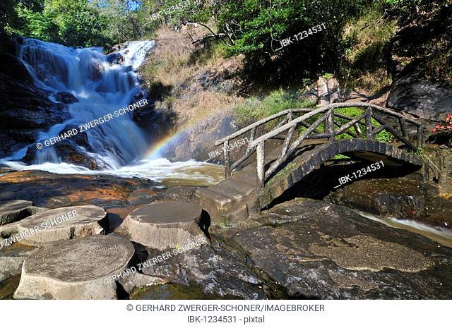 Datanla waterfall, tourist attraction, Central Highlands, Dalat, Asia, Vietnam