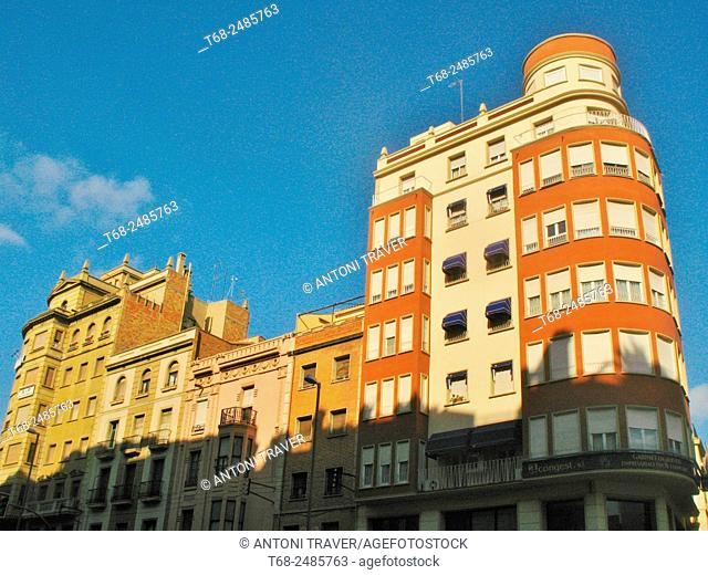 Houses in the center of Lleida, Spain