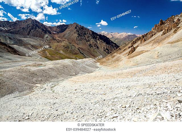 Scenic Tien Shan mountains in Kyrgyzstan