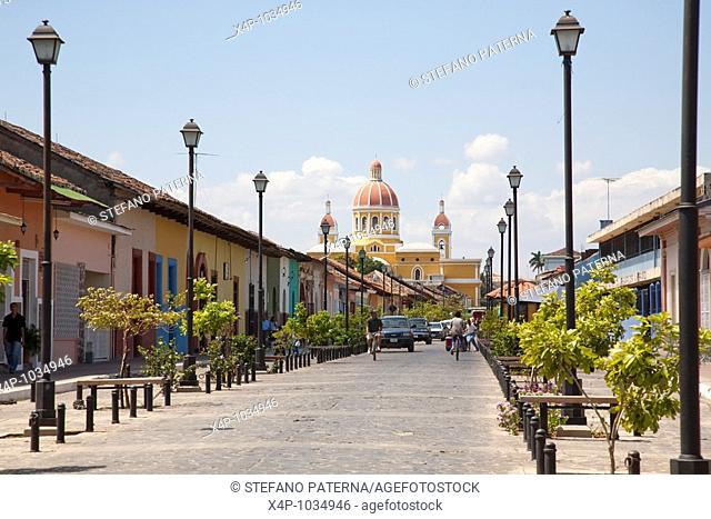 La Calzada is a street with numerous restaurants and bars in Granada Nicaragua