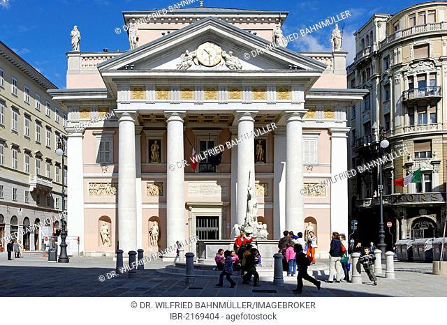 Old stock exchange, Palazzo del Borso, Piazza della Borsa, Trieste, Italy, Europe