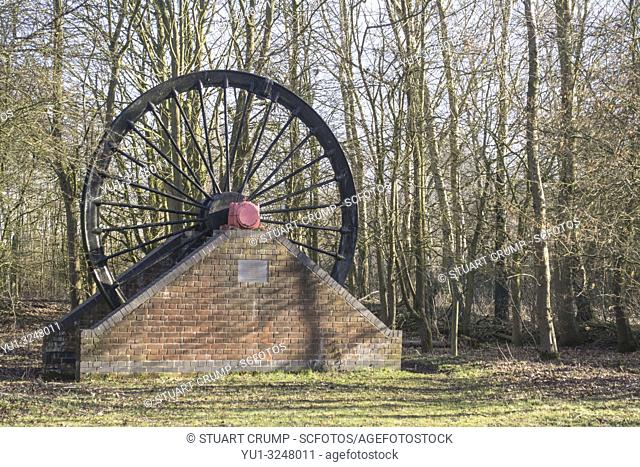 Wheel at the Snibston No 3 Former Railway and Mine at the site of the Leicester to Swannington Railway and Swannington Incline