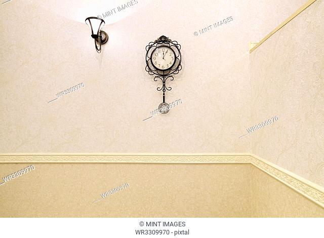 Ornate Light and Clock