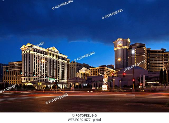 USA, Las Vegas, Caesar's Palace at night
