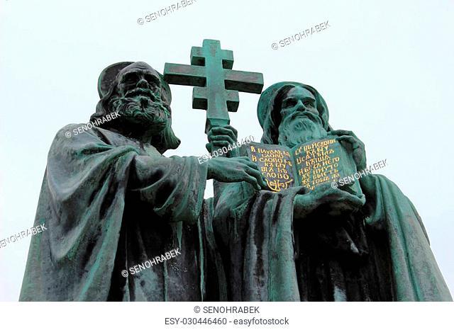 Bronze Statue of Saint Cyril and Methodius on Radhost, Czech Republic