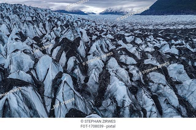 Idyllic shot of glacier landscape, Knik Glacier, Palmer, Alaska, USA
