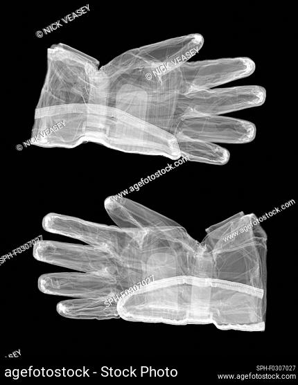 Motorcycle gloves, X-ray