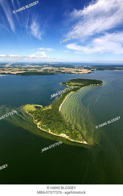 Aerial view, holiday island Vilm, island of former state council chairman Honecker, island Vilm, Putbus, island Rügen, Mecklenburg-West Pomerania, Germany