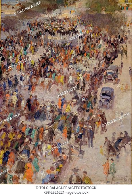 paseo de Vara de Rey, oil on canvas, Narcís Puget Viñas, Puget Museum, Can Comasema, casa del siglo XV, Ibiza, Balearic Islands, Spain