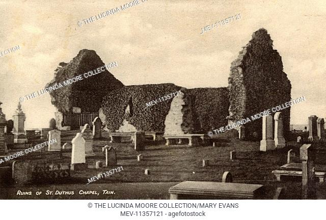 Ruins of Saint Duthus Chapel, in Tain, Scotland