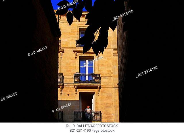 Rue Maubec at Bordeaux, Gironde, Aquitaine, France