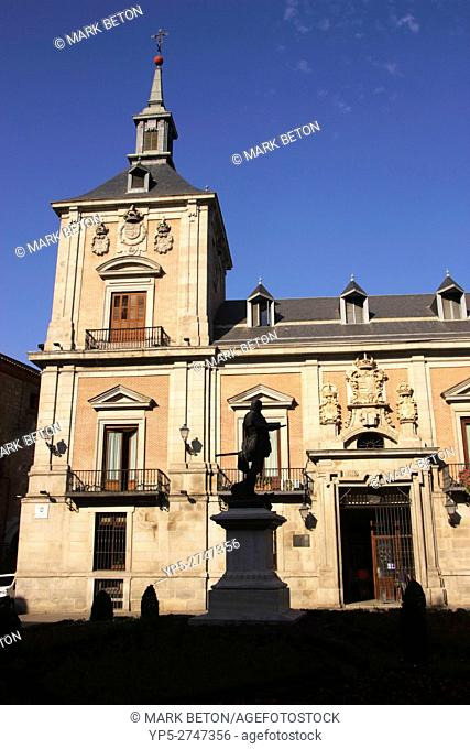 Old Town Hall in Plaza de la Villa Madrid Spain