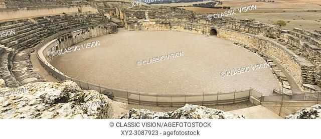 Ruins of the Celtic-Roman city of Segobriga, near Saelices, Cuenca Province, Castile-La Mancha, Spain. Parque Arqueológico de Segóbriga