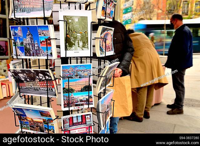 Santa Barbara street bookshop, Madrid, Spain