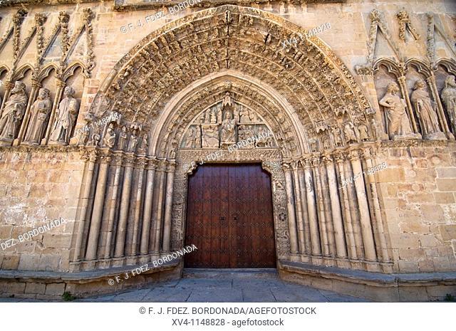 Santa Maria la Real chuch  Olite medieval village  Navarre  Spain  Europe