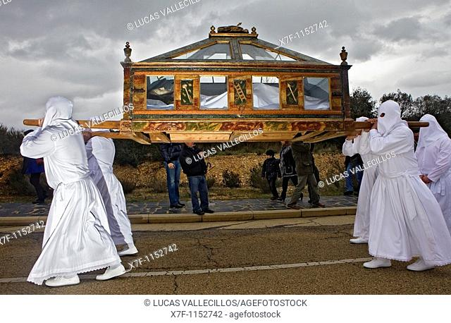 Good Friday procession, Bercianos de Aliste, Province Zamora, Castilla Leon, Spain