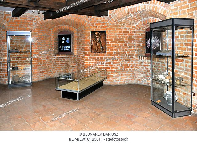 Castle of the Teutonic Order and West Kashubia Museum in town Bytow, Pomeranian Voivodeship, Poland. Rooms with museum collections