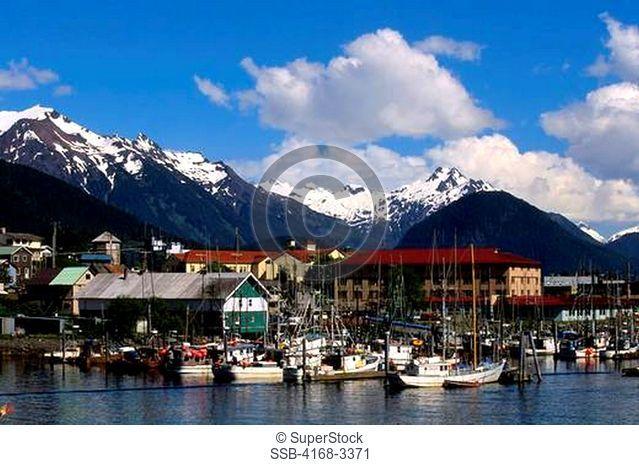 Usa, Alaska, Inside Passage, Sitka, Fishing Boats