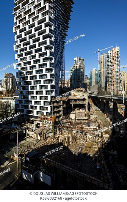 Bjarke Ingels designed Vancouver House, a tower under construction in Vancouver, BC, Canada