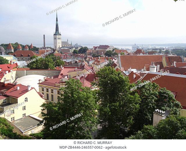 Tallinn Old Medieval Town Overview-Tallinn, Estonia