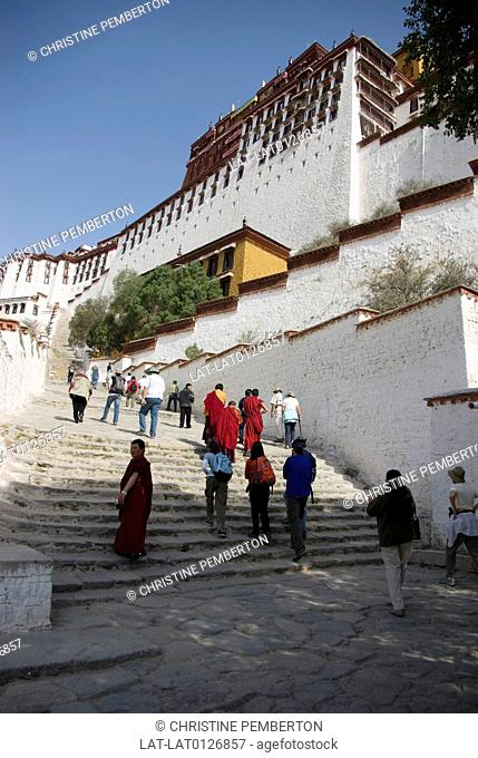 The Potala Palace is located in Lhasa, Tibet Autonomous Region, China. It was named after Mount Potala, the abode of Chenresig or Avalokitesvara