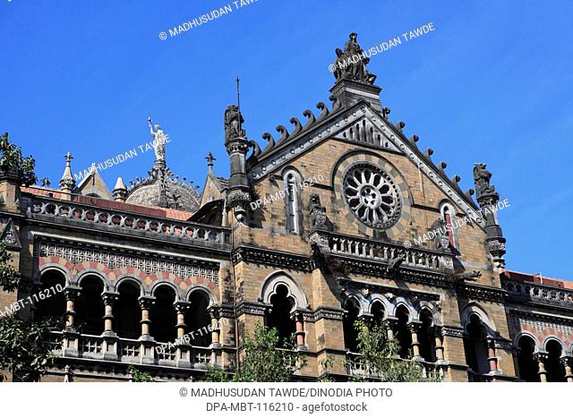 Chhatrapati Shivaji Terminus Formerly Victoria Victorian Gothic Revival Architecture Blended With Indian Traditional