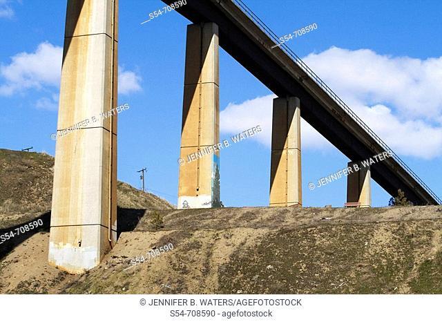 A railroad bridge over a canyon