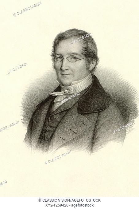 Joseph Louis Gay-Lussac, 1778-1850  French chemist and physicist  From a 19th century print