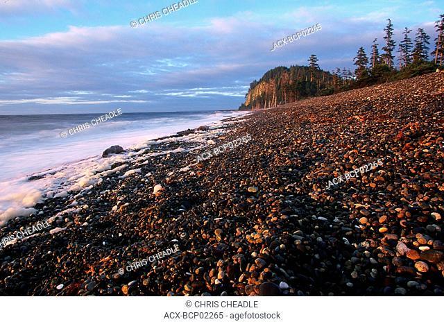 Queen Charlotte Islands, Haida Gwaii, Tow Hill on Graham Island at dusk, British Columbia, Canada